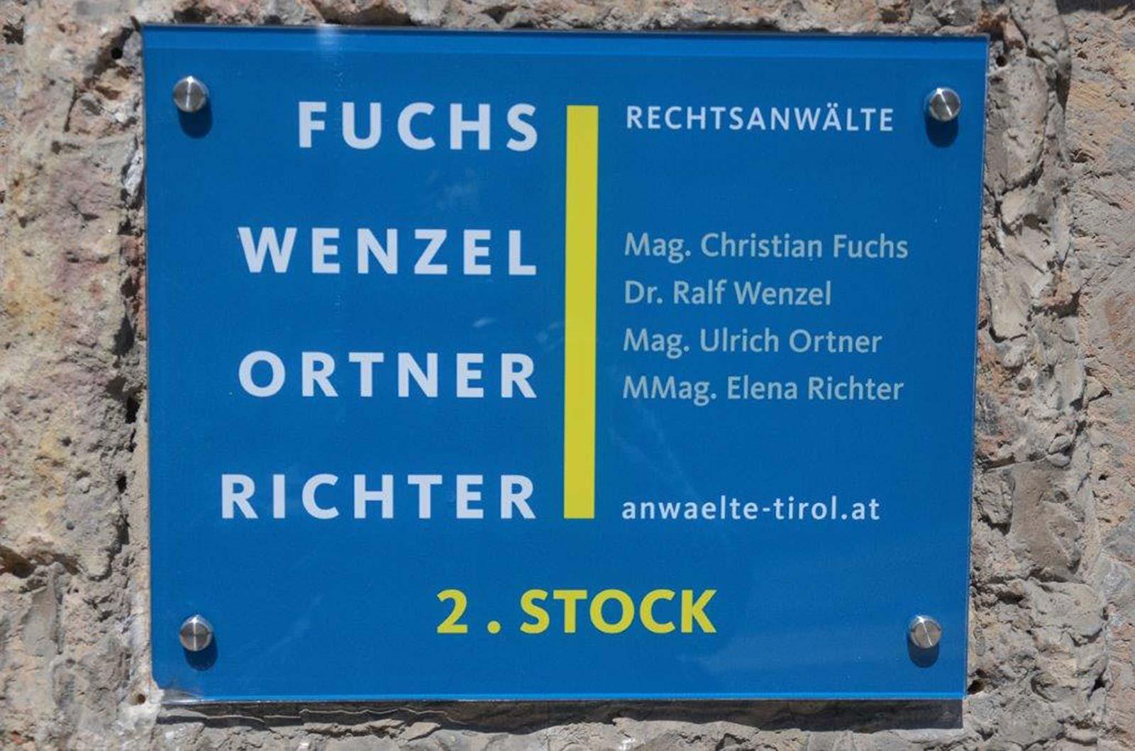 Kanzlei in der Anichstraße 42 | Fuchs Wenzel Ortner Richter Rechtsanwälte, 6020 Innsbruck